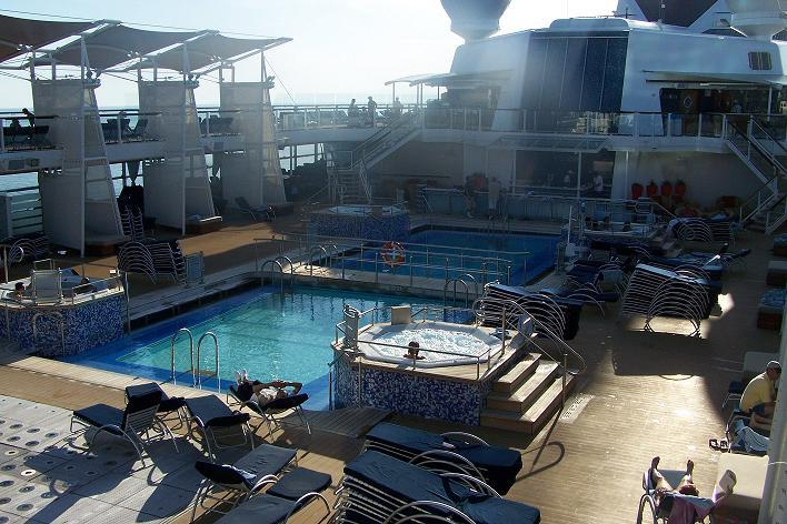 Pool deck, Celebrity Solstice