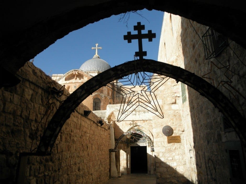 9th Station of the Cross, Holy Sepulchre in Background