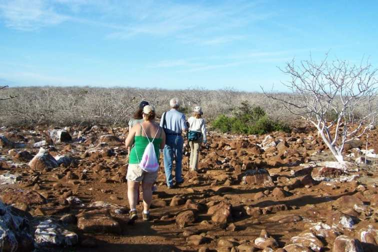 Walking in the Galapagos