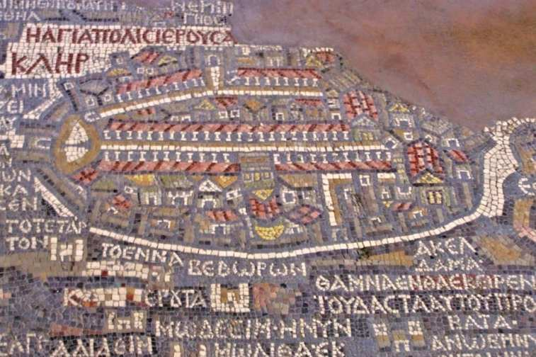 Madaba Map Jordan