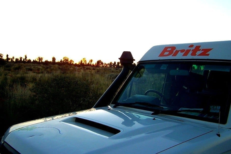 Off road Australia Britz Campervan