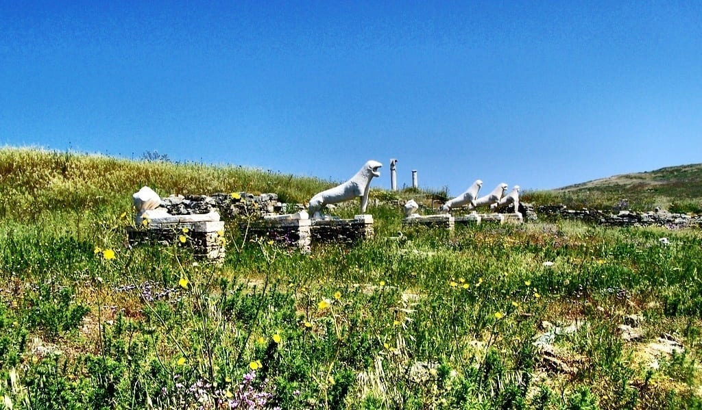 Terrace of Lions, Delos Greece