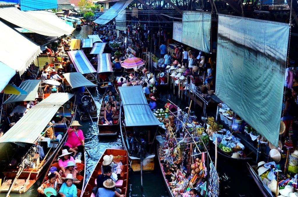 Floating Markets of Damnoen Saduak, Thailand