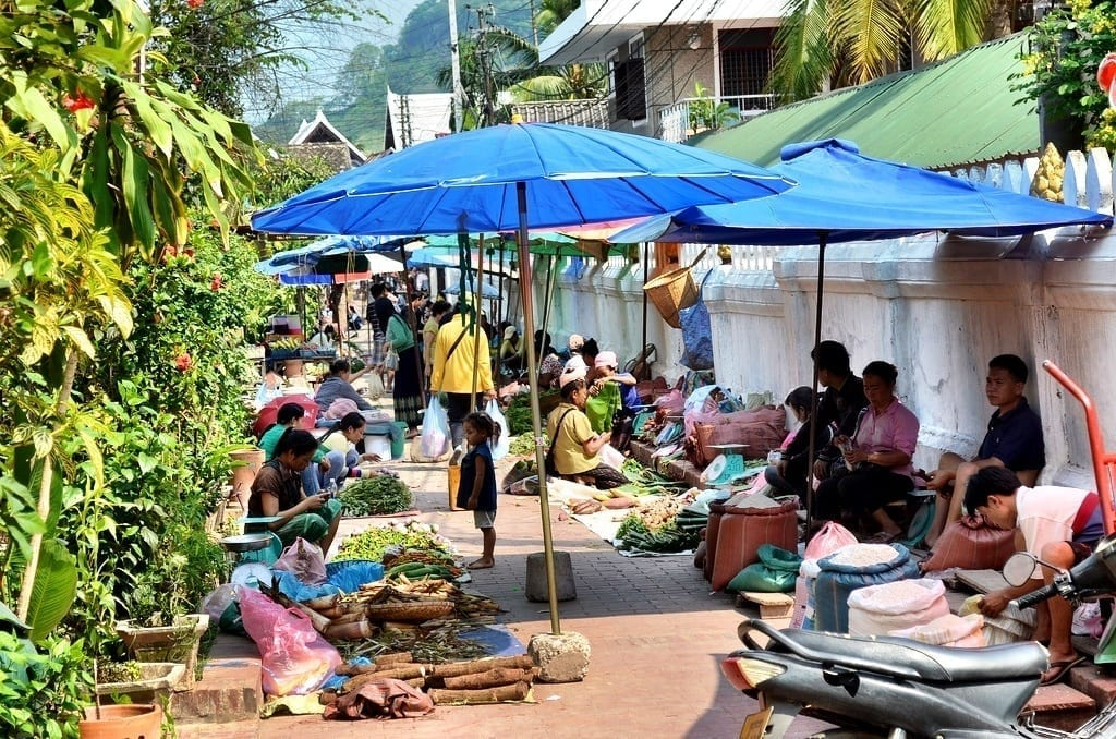 Morning Market in Luang Prabang, Laos