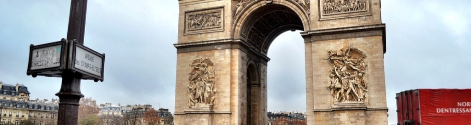 Arc de Triomphe and the Champs Elysees in Paris