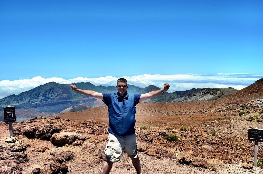 Matt at Haleakala, Maui