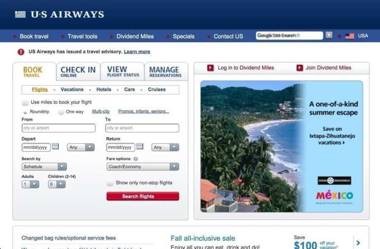 US Airways app