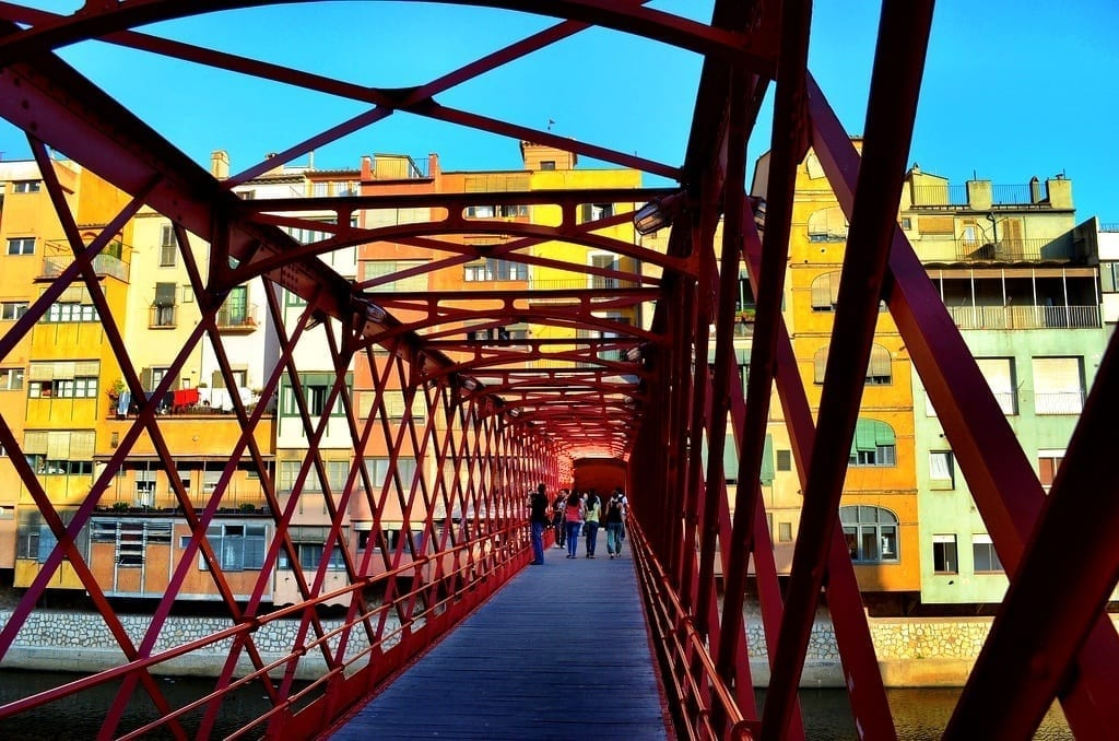Eiffel Bridge in Girona, Spain