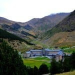 Vall de Nuria, Spain, accessible only by train. Or Foot I guess.