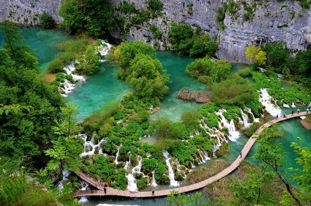 Stairs and walkways of Plitvice Lakes, Ctoatia