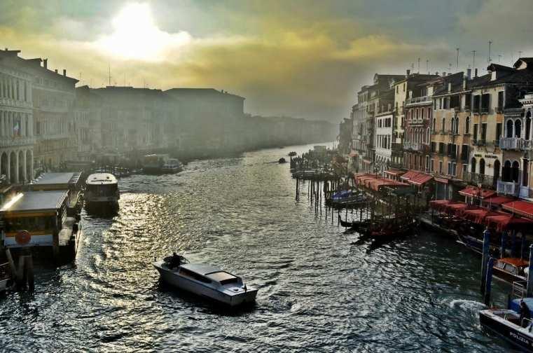 Venice Italy fog