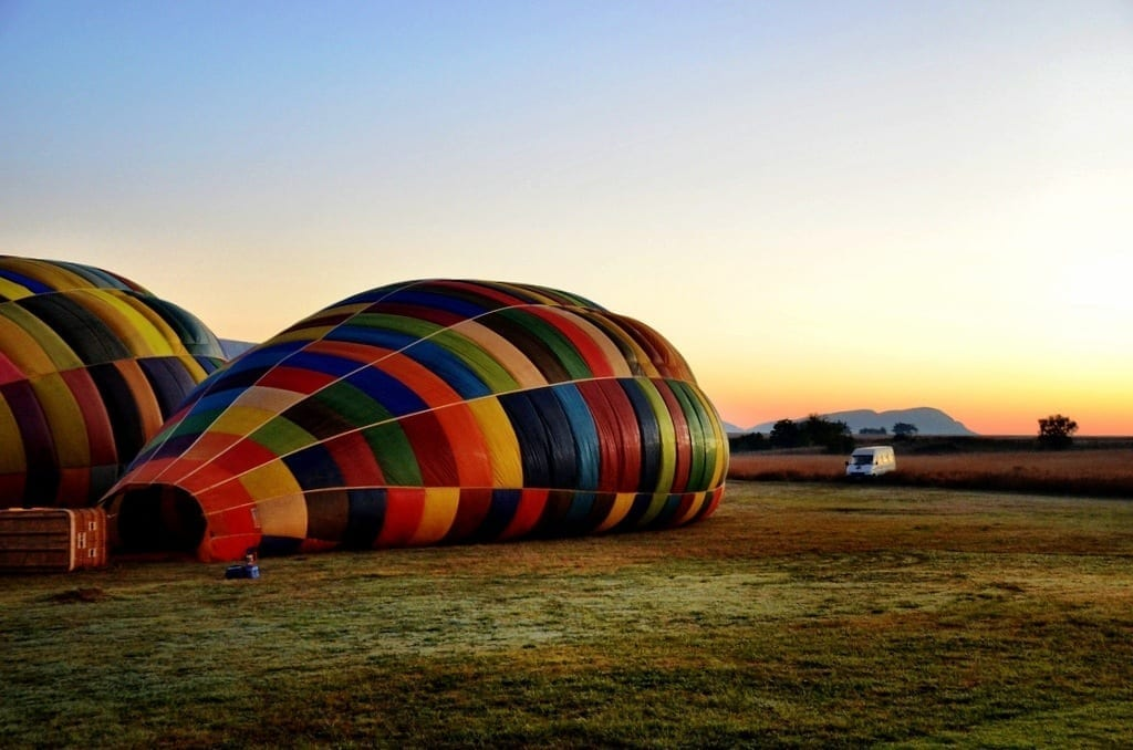 Hot air balloon South Africa