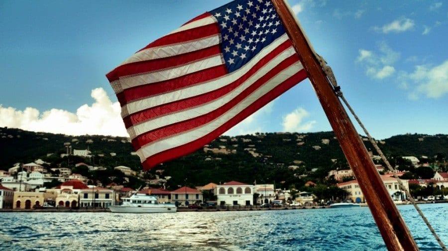 US Flag St Thomas