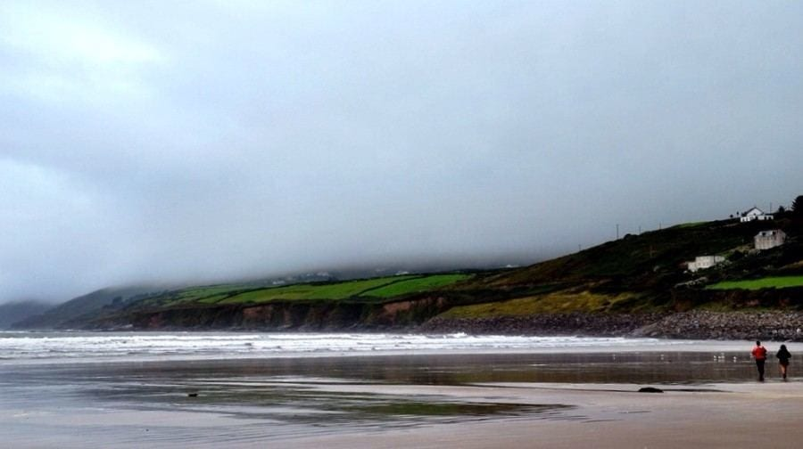 foggy beach Ireland