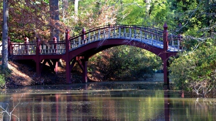 Crim Dell Bridge William and Mary Williamsburg Virginia