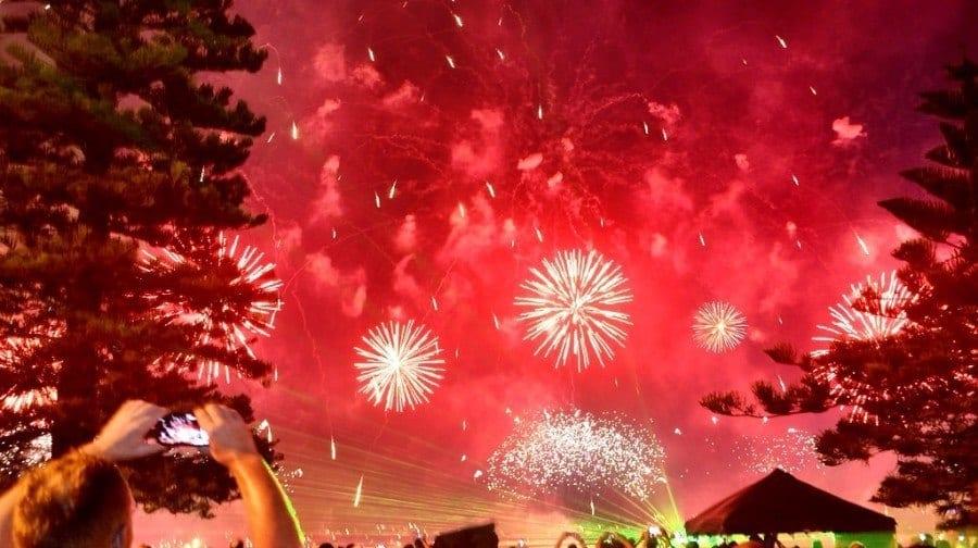 Perth Australia fireworks