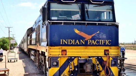 Indian Pacific train Australia