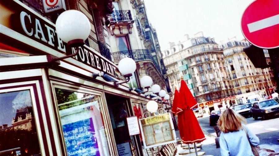 Paris France cafe