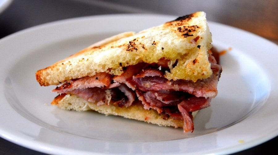 Bacon sandwich, London, UK
