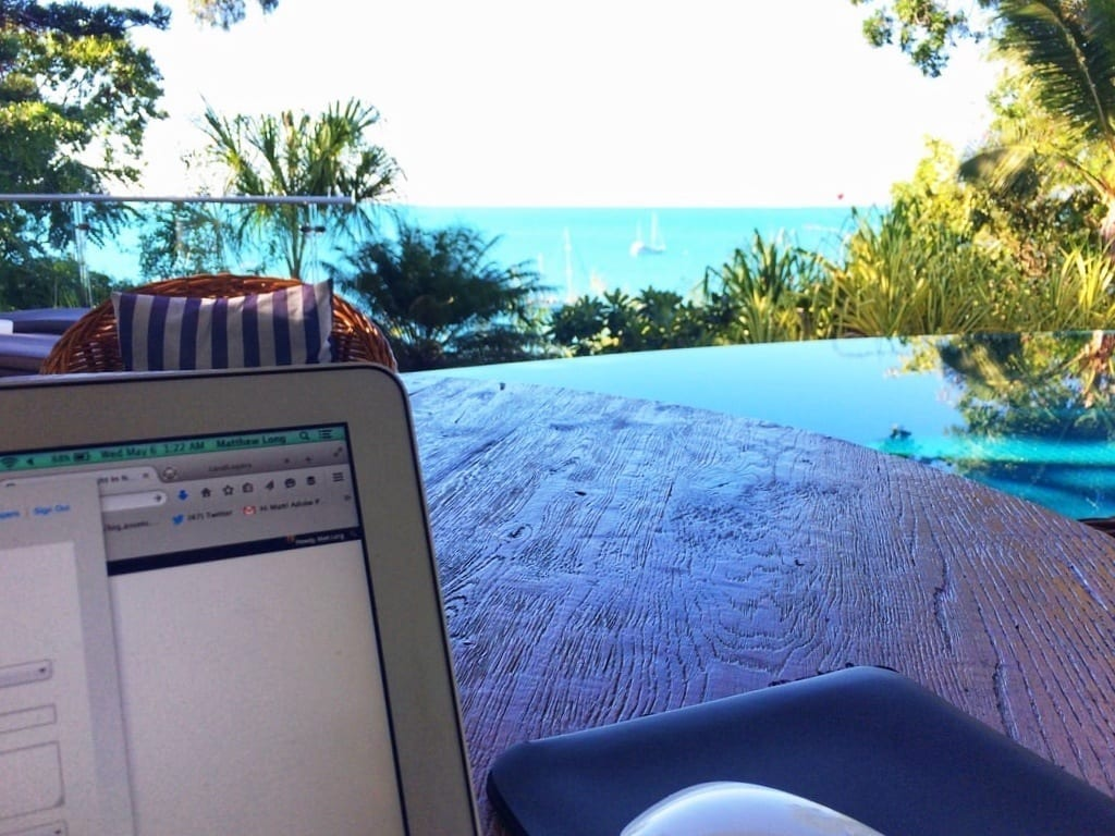 Queensland Australia laptop