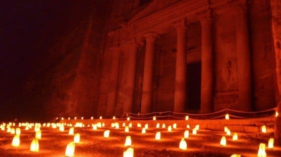 Petra night Jordan