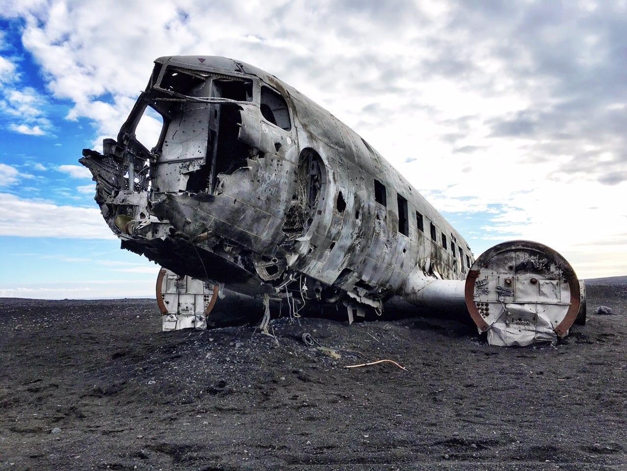 Plane Vik Iceland