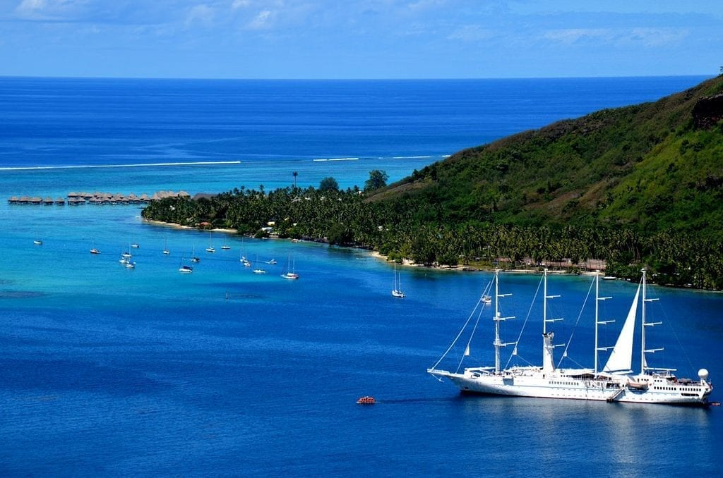 Windstar Cruises ship Tahiti French Polynesia