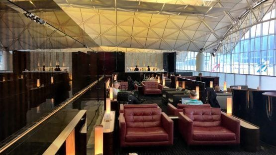 Cathay Pacific Lounge Hong Kong
